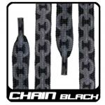 Schnrsenkel 130cm - Chains black 