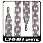 Schnrsenkel 130cm - Chains white 